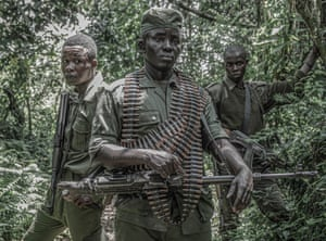 Rangers guard the Kahuzi-Biega national park in eastern DRC in January.