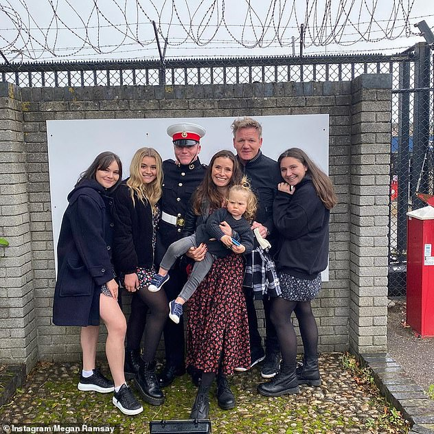 Family: Gordon and his wife Tana are parents to Megan, 22, twins Holly and Jack, 20, Tilly, 18, and little Oscar, 19 months (pictured all together)