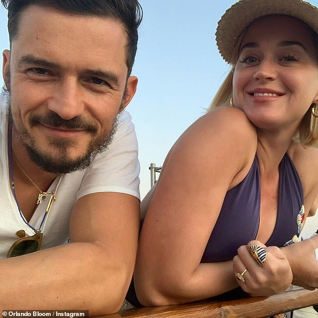 Blissful:'Katy and Orlando are doing fantastic as a couple and are in parenthood bliss,' a source told Entertainment Tonight