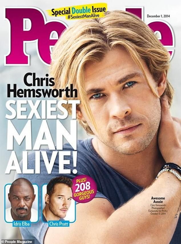 Past winner: Chris Hemsworth is shown on the cover in 2014 as Sexiest Man Alive