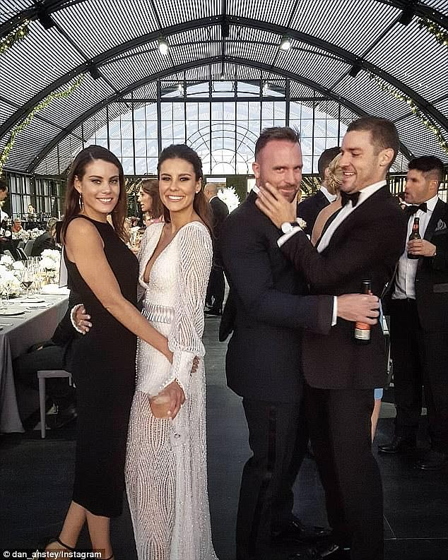Putting on the ritz: According to marquee provider Harry The Hirer, the glass 'atrium' made its debut at the lavish wedding and took three days to construct by twelve staff members