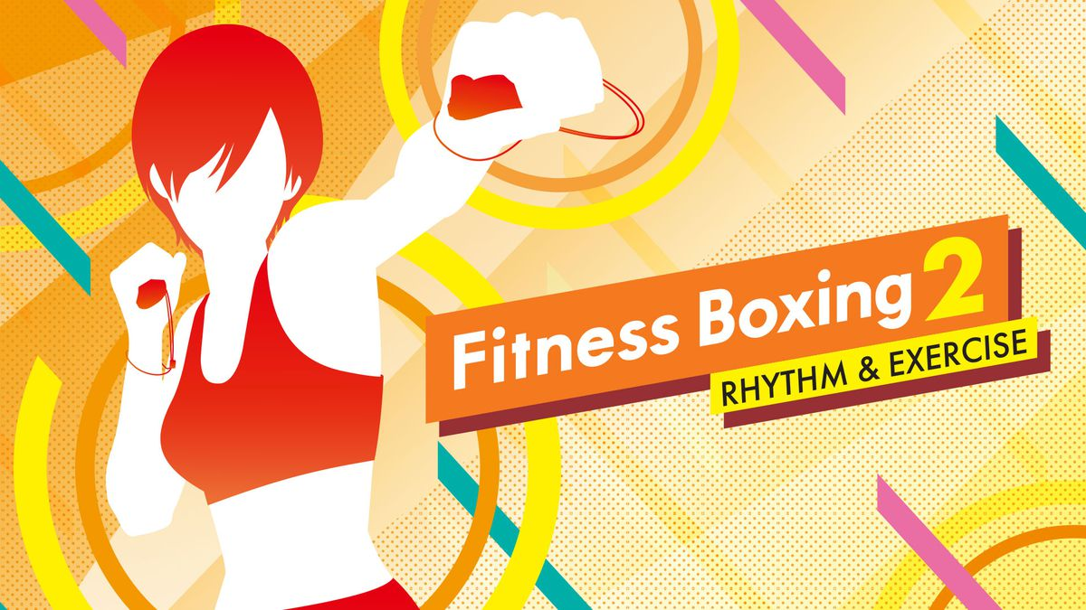 "A silhouette of a person boxing with the text ""Fitness Boxing 2"""