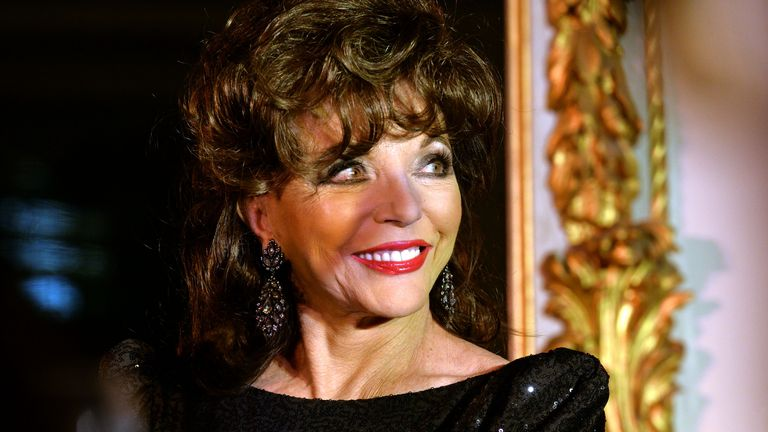 Joan Collins announced the winner of the Literary Review's Bad Sex In Fiction award in 2013