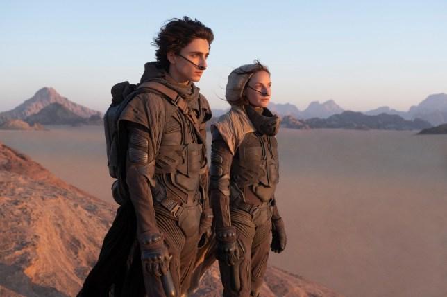 Timothee Chalamet and Rebecca Ferguson in Dune