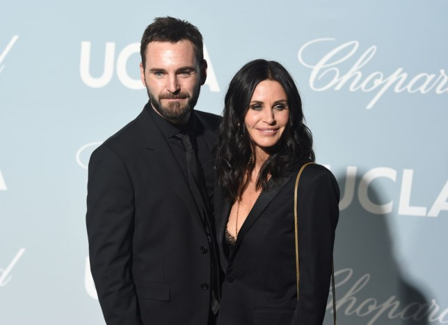 Courteney Cox and Johnny McDaid on red carpet