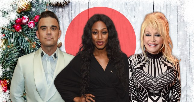 Robbie Williams, Beverley Knight and Dolly Parton