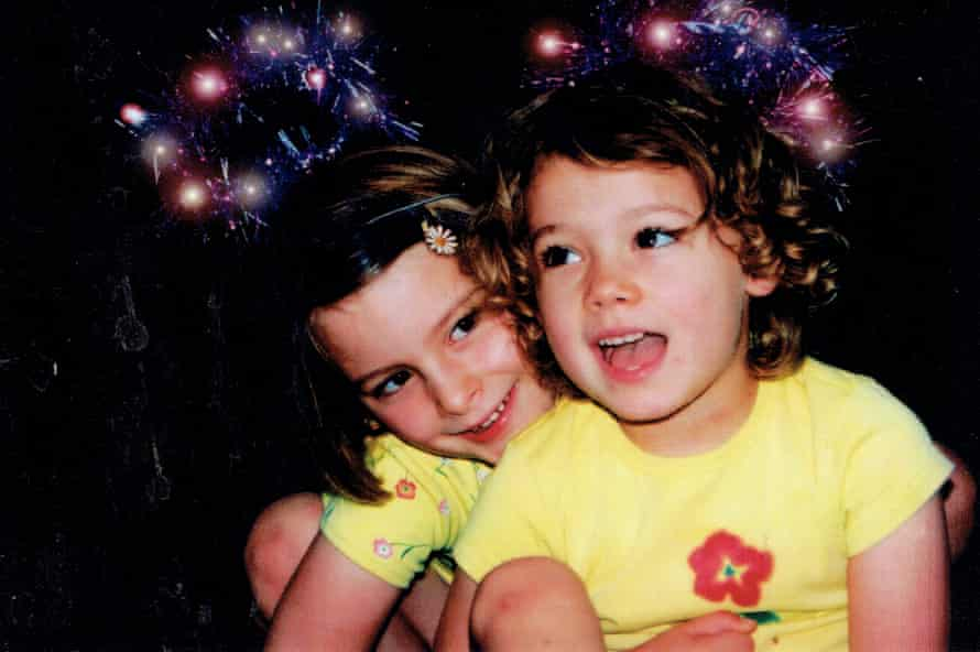 Matilda Boseley (right) celebrates Christmas with her older sister Perrin.