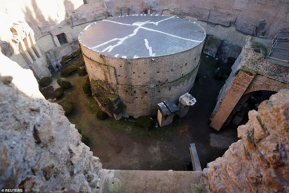 A massive mausoleum built in 28 BC for Rome's first emperor Augustus has been restored and is set to open to the public next year