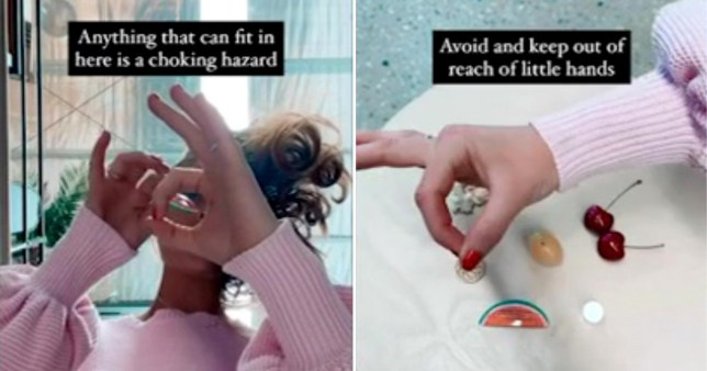 Mum's trick for checking choking risk