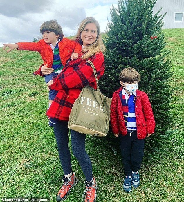 Bush Lauren and her spouse are parents to sons, James, five, and Max, two