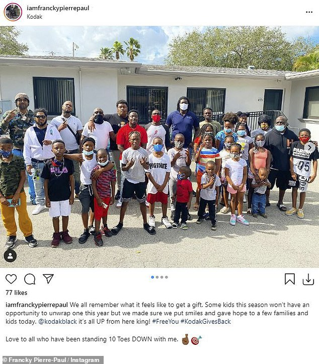 Among those who he worked with on the drive included Florida-based community activist Francky Pierre-Paul, who shared multiple shots of the event