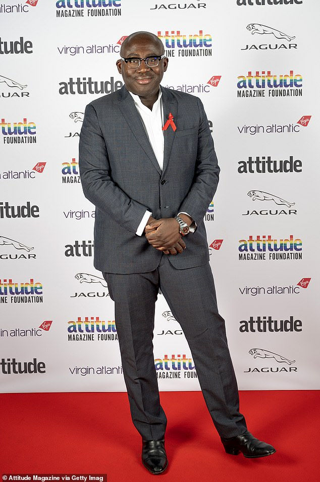 Star-studded: Vogue¿s Editor-in-Chief Edward Enninful OBE, who looked sharp in a grey suit, served as a presenter at the ceremony