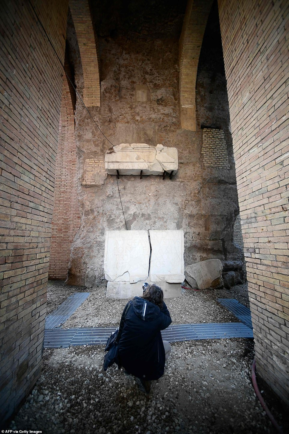 Augustus had the mausoleum built for himself and the imperial family, and it also houses the bones and ashes of Emperors Vespasian, Nero and Tiberius, each indicated with a marble plaque