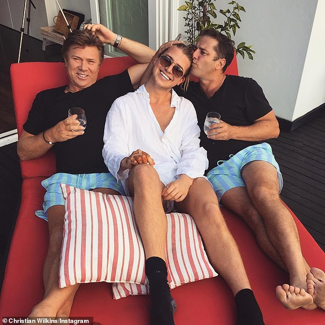 Good times: Christian is pictured with dad Richard Wilkins and Karl Stefanovic