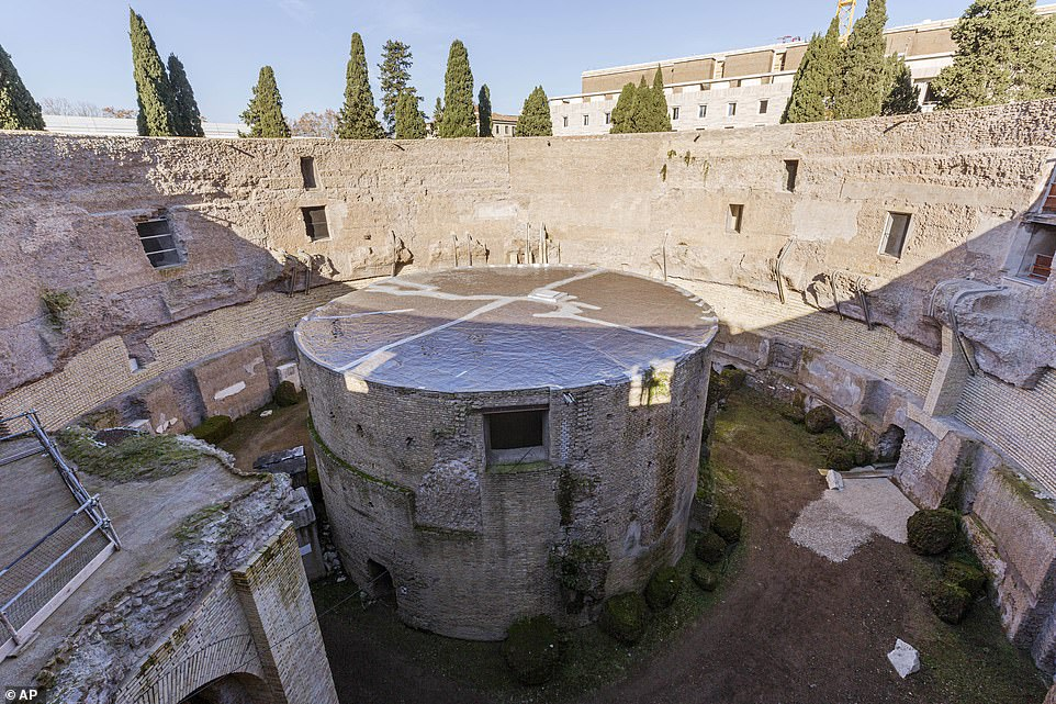 Towering above Rome's historic center, the ancient tomb was once used as a military look-out point and hosted the lavish parties of the Roman dynasty. The structure was also transformed into a hanging garden and then an auditorium for bullfighting and firework displays