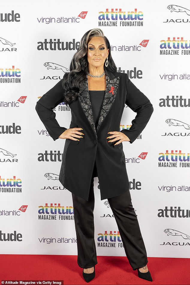 Working it: The songstresses were joined by CBB's Michelle Visage who brought the glamour for the event, which aired on Monday evening and was filmed over six days