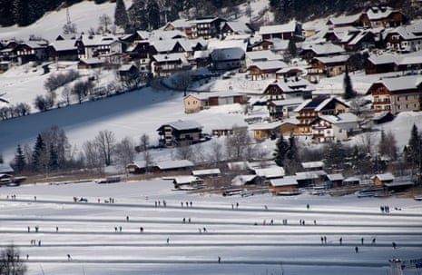 Lake Weissensee, the largest outdoor skating venue in Europe.