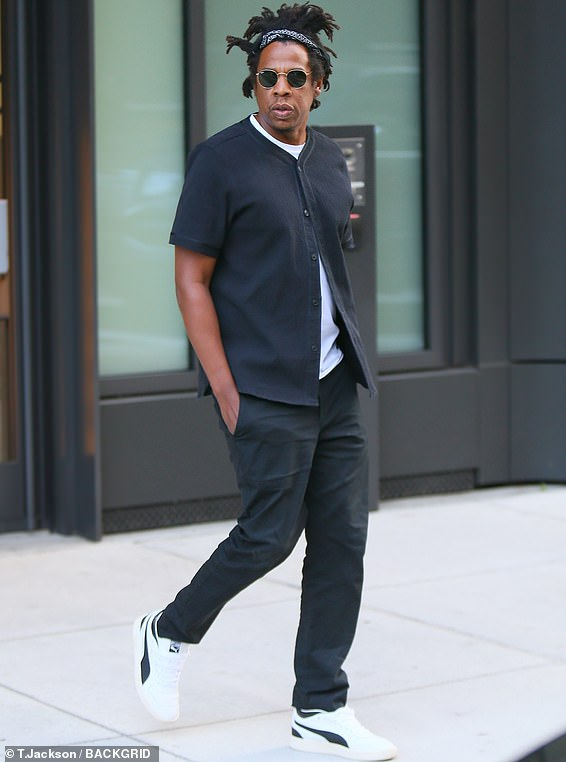 Out and about: Jay-Z is pictured in New York this September