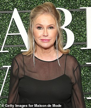 She is in bed: Kathy Hilton has it too; she is Kyle's older sister