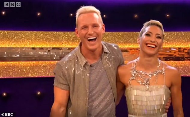 Sweet:The actress and singer made a sweet video cameo on the show to share her support for her Made In Chelsea star brother, 32, and his pro partner Karen Hauer
