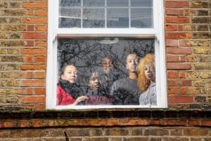 Clodagh Glaisyer-Sidibe with Fari Bangura, Jaydon Ferguson, Madani Sidibe and Astou Sidible