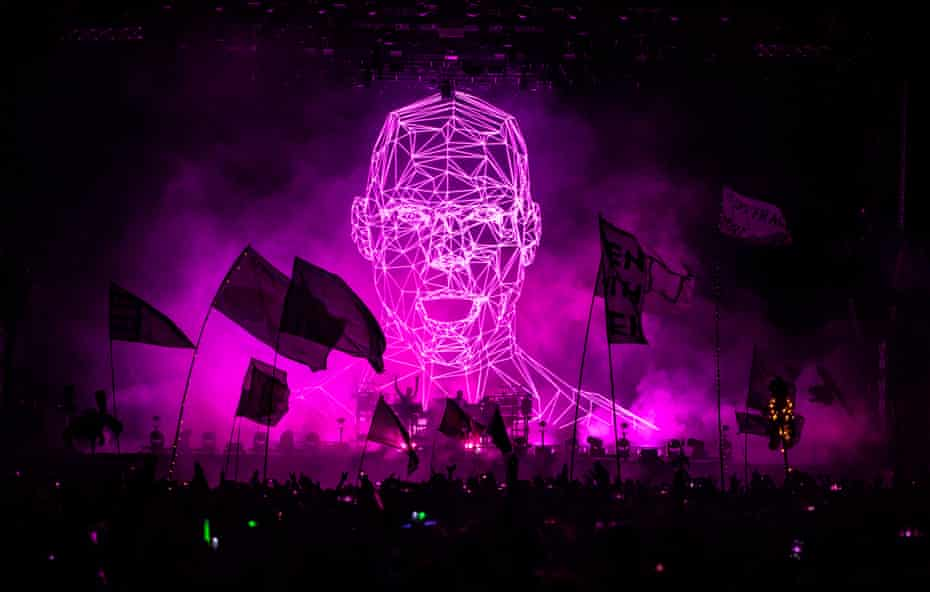 Chemical Brothers perform at Glastonbury festival 2019.
