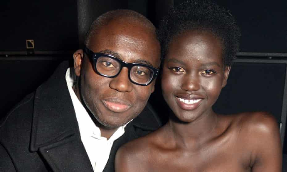 'I don't know many people in London, but Edward is my family here': with Vogue's Edward Enninful.