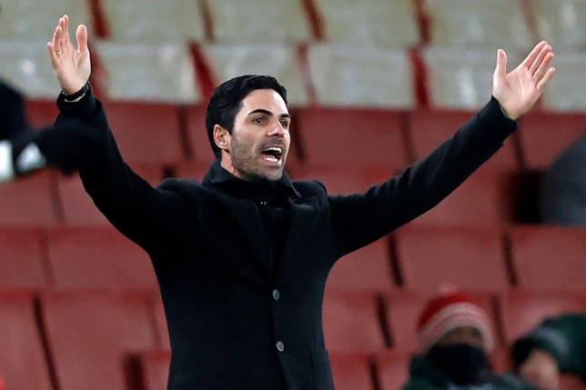 Arsenal's Spanish manager Mikel Arteta gestures on the touchline during the English Premier League football match between Arsenal and Chelsea at the Emirates Stadium in London on December 26, 2020.
