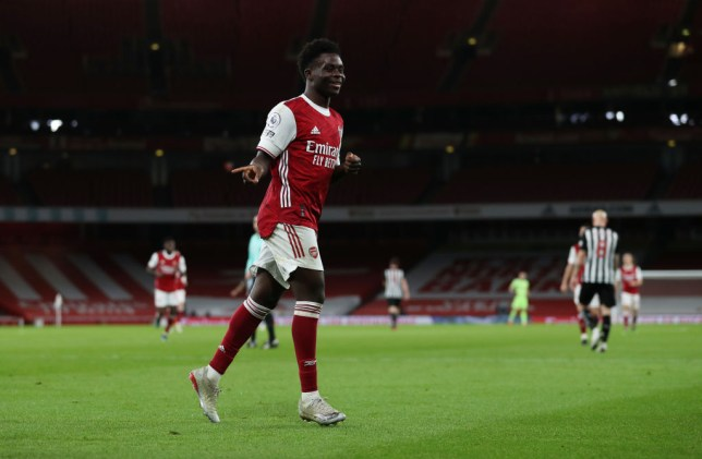 Saka has been one of Arsenal's most consistent players this season