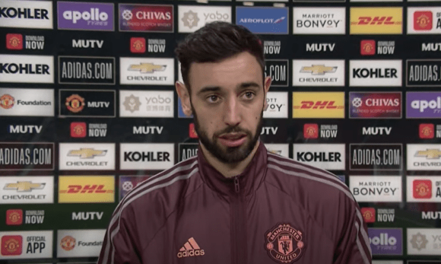 Bruno Fernandes scored to help Manchester United beat Aston Villa