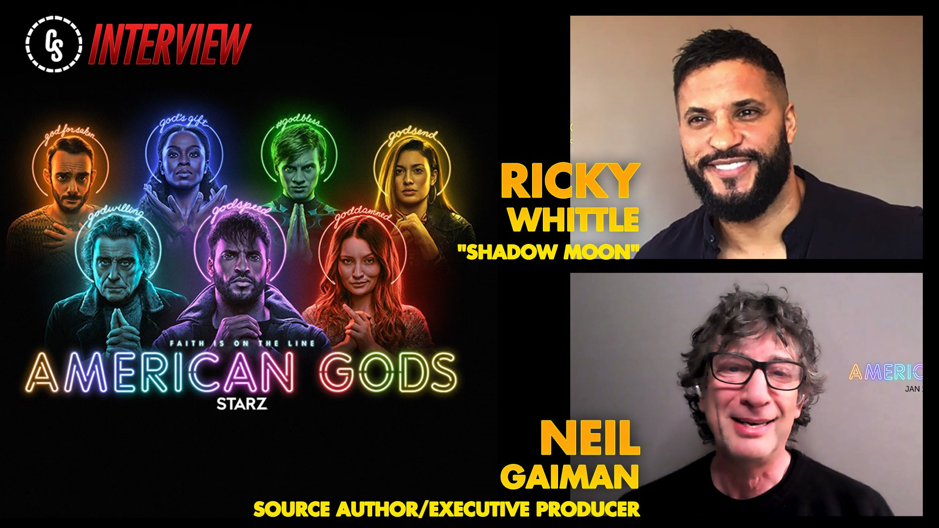 CS Video: Neil Gaiman & Ricky Whittle Talk American Gods Season 3