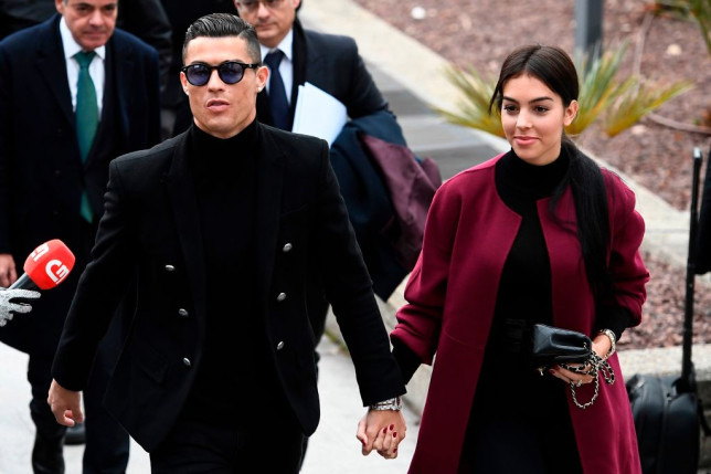 Juventus star Cristiano Ronaldo holds hands with Georgina Rodriguez