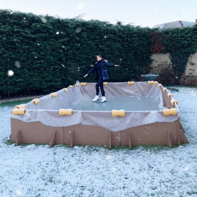 Dancing on Ice superfan builds £600 ice rink in back garden