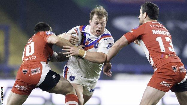 Eddie Battye in action for Wakefield Trinity