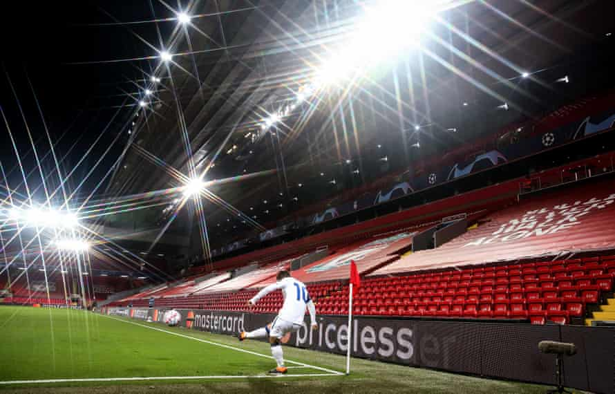 Anfield will be empty again on Sunday for what is set to be Bruno Fernandes's first game against Liverpool.