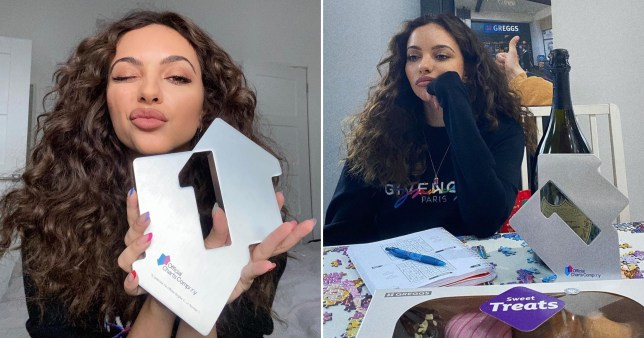Jade Thirlwall celebrates number one