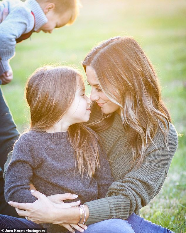 Every parent's nightmare: Jana Kramer has described the heart-stopping moment a stranger said her four-year-old daughter 'got into a white SUV'
