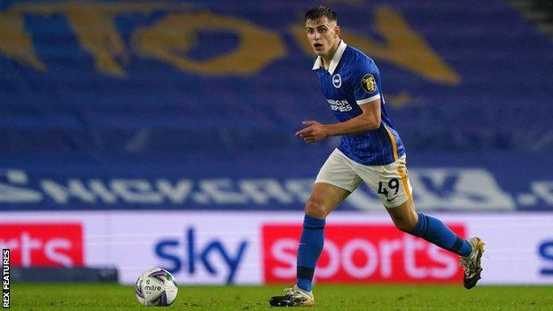Brighton midfielder Jayson Molumby