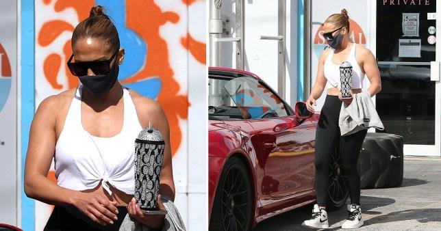Jennifer Lopez at the gym