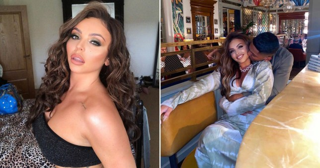 Jesy Nelson pictured on Instagram in selfie and with Sean Sagar