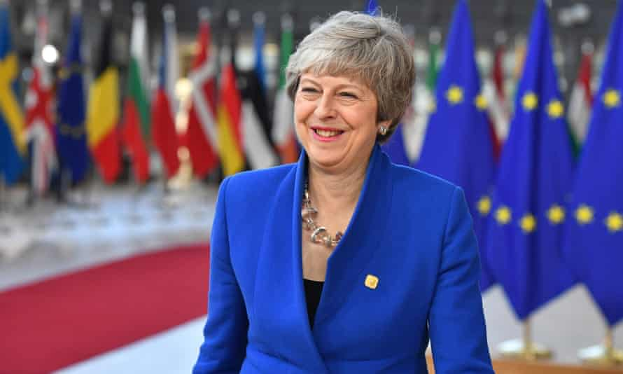 Theresa May in Brussels in 2019.