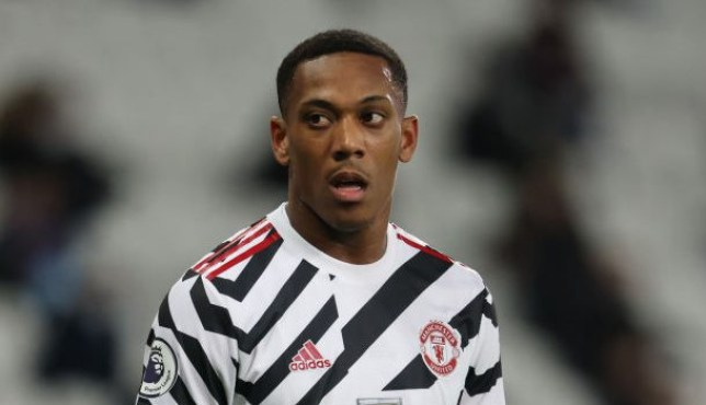 Anthony Martial is an early doubt for Manchester United's clash with Liverpool
