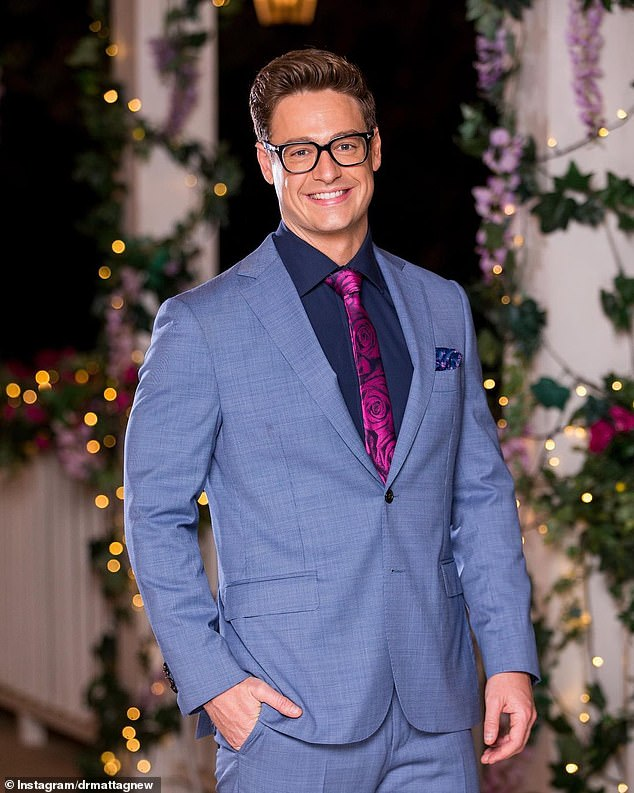 Familiar face: Matt Agnew rose to fame as the geeky yet handsome astrophysicist on The Bachelor back in 2019 (pictured)