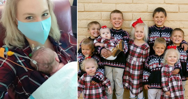 Mum vows to homeschool her whole brood after giving birth to 11th child