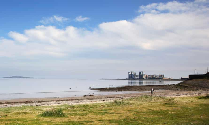 View of Granton harbour from the beach