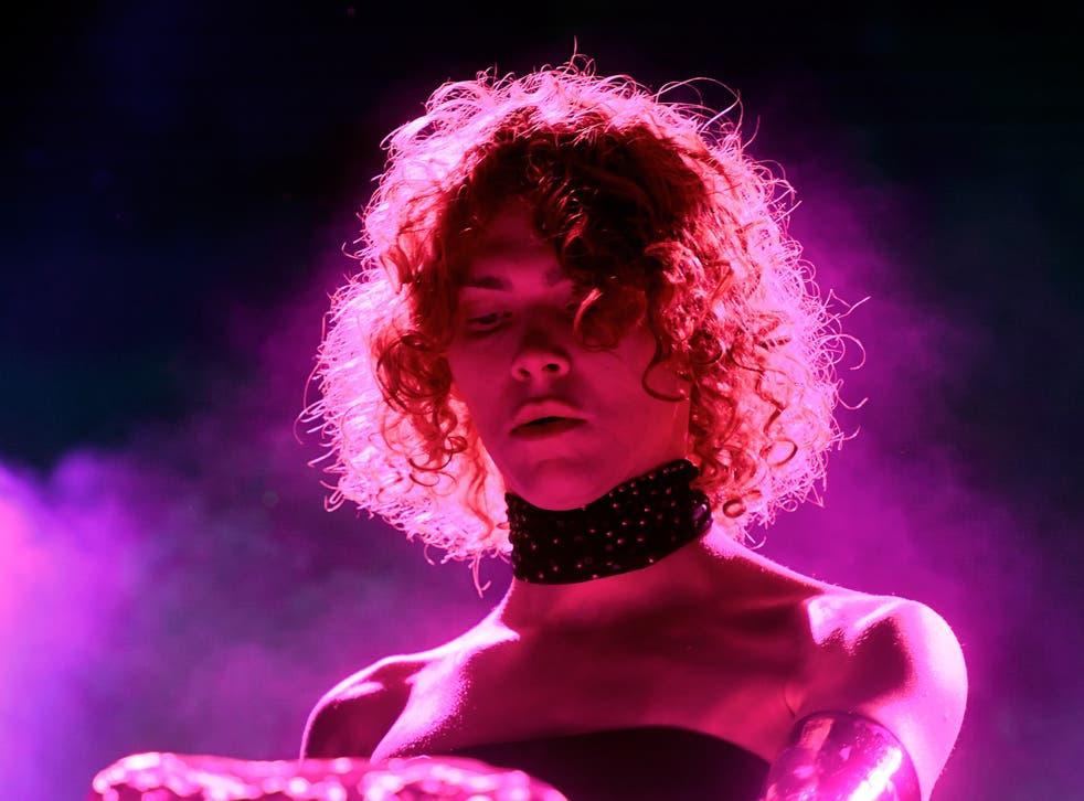 <p>SOPHIE performing at Coachella in 2019</p>