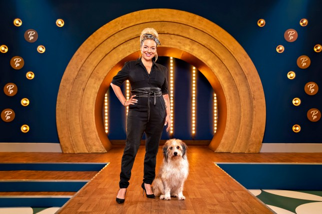 Sheridan Smith on the runway of BBC's Pooch Perfect