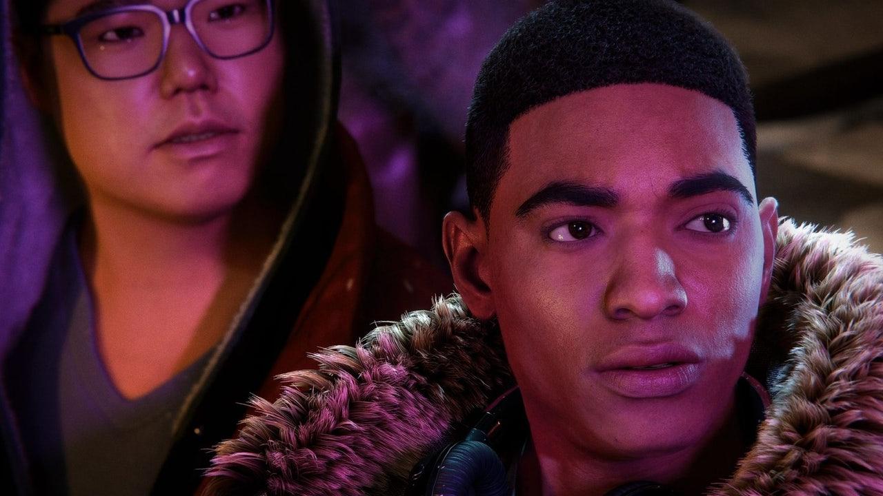 Miles Morales and his buddy Ganke Lee. (Screenshot: Insomniac Games)