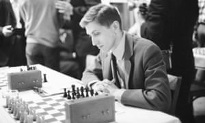 Bobby Fischer at the US chess championship in 1965.