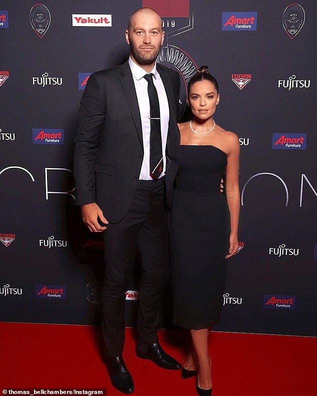 Wedding prep: Thomas Bellchambers (L) has revealed to the Sun Herald this week that he will undergo 'hair re-growth' treatments before his wedding to fiancée Olympia Valance